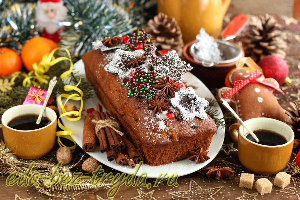 Пряничный кекс на Новый год и Рождество рецепт с фото