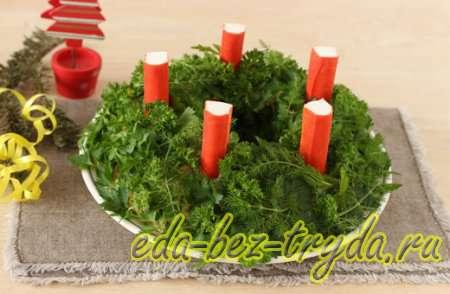 Украшаем салат зеленью