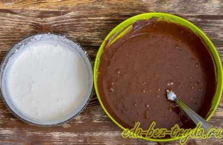 Шоколадная масса и сливки