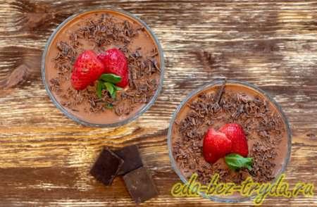 Украшаем шоколадный мусс