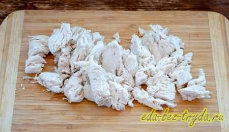 Нарезаем мясо 8 шаг